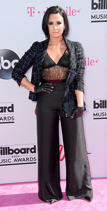 "<div class=""meta image-caption""><div class=""origin-logo origin-image ap""><span>AP</span></div><span class=""caption-text"">Demi Lovato arrives at the Billboard Music Awards at the T-Mobile Arena on Sunday, May 22, 2016, in Las Vegas. (Richard Shotwell/Invision/AP)</span></div>"