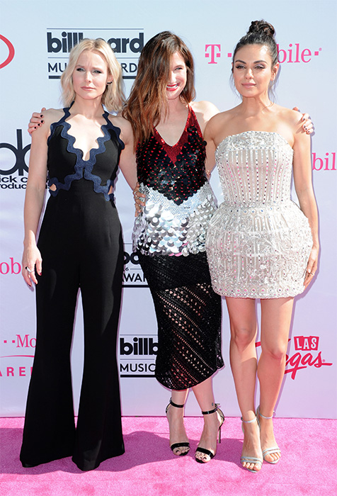"<div class=""meta image-caption""><div class=""origin-logo origin-image ap""><span>AP</span></div><span class=""caption-text"">Kristen Bell, from left, Kathryn Hahn and Mila Kunis arrive at the Billboard Music Awards at the T-Mobile Arena on Sunday, May 22, 2016, in Las Vegas. (Richard Shotwell/Invision/AP)</span></div>"