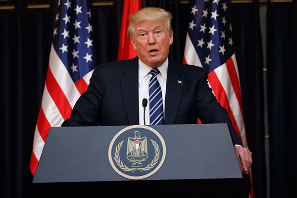 "<div class=""meta image-caption""><div class=""origin-logo origin-image none""><span>none</span></div><span class=""caption-text"">President Donald Trump makes a statement on the terrorist attack in Manchester after a meeting with Palestinian President Mahmoud Abbas, Tuesday, May 23, 2017. (Evan Vucci/AP Photo)</span></div>"