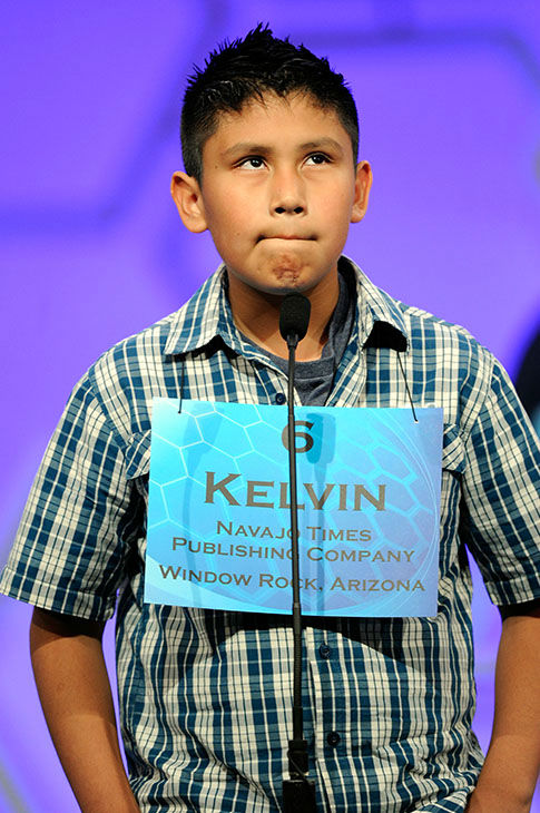 <div class='meta'><div class='origin-logo' data-origin='none'></div><span class='caption-text' data-credit='Photo/AP'>Kelvin Winney, 10, of Arizona pauses while spelling his word in the preliminaries of the Scripps National Spelling Bee, Wednesday, May 27, 2015, in Oxon Hill, Md.</span></div>