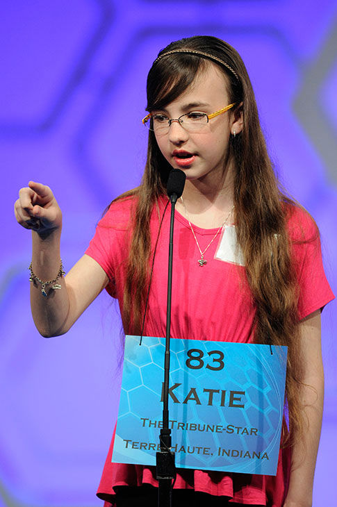 <div class='meta'><div class='origin-logo' data-origin='none'></div><span class='caption-text' data-credit='Photo/AP'>Katie Collins, 12, of Terre Haute, Ind., gestures while spelling her word during the 2015 Scripps National Spelling Bee in Oxon Hill, Md.</span></div>