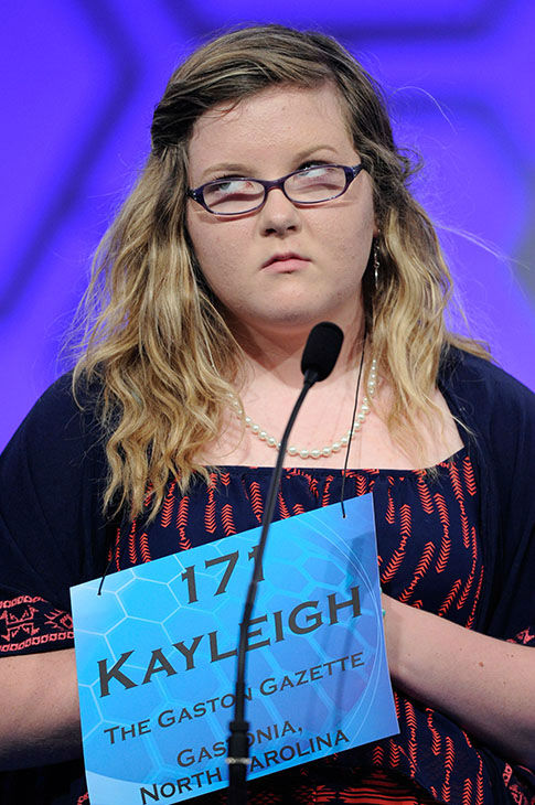 <div class='meta'><div class='origin-logo' data-origin='none'></div><span class='caption-text' data-credit='Photo/AP'>Kayleigh Guffey, 13, of Gastonia, N.C., spells the word &#34;altruism&#34; during the 2015 Scripps National Spelling Bee in Oxon Hill, Md., May 27, 2015.</span></div>