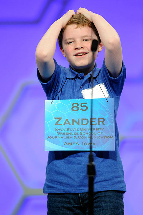 <div class='meta'><div class='origin-logo' data-origin='none'></div><span class='caption-text' data-credit='Photo/AP'>Zander Reed, 12, of Ames, Iowa, reacts after misspelling his word during the 2015 Scripps National Spelling Bee in Oxon Hill, Md.,</span></div>