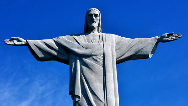 Christ the Redeemer: Perhaps the most recognizable landmark in Rio de Janeiro, this 98 foot statue is located at the peak of the 2,300 foot tall Corcovado mountain. <span class=meta>(adamreeder&#47;Flickr)</span>