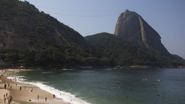 Praia Vermelha &#40;Red Beach&#41;: This is possibly the most idyllic beach of Rio. This tiny oasis of quietness and beauty got its name because it becomes flushed with red at sunsets. <span class=meta>(AP&#47;Felipe Dana)</span>