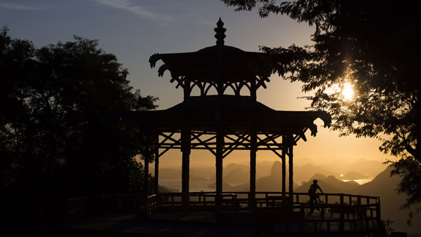 "<div class=""meta ""><span class=""caption-text "">Vista Chinesa: This monument is located at about 1,246 feet high in the Tijuca Forest and is famous for its oriental style gazebo and spectacular views of Rio de Janeiro. (AP/Felipe Dana)</span></div>"