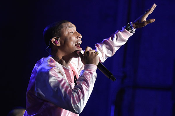 <div class='meta'><div class='origin-logo' data-origin='none'></div><span class='caption-text' data-credit='Richard Shotwell/Invision/AP, File'>Pharrell Williams will join Ariana Grande at a charity concert called &#34;One Love Manchester&#34; in Manchester, England, Sunday, June 4, 2017.</span></div>