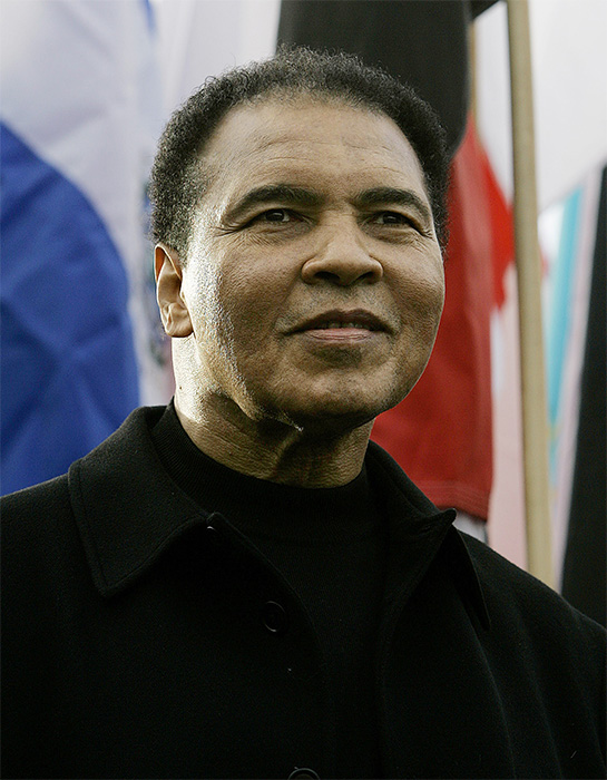 <div class='meta'><div class='origin-logo' data-origin='AP'></div><span class='caption-text' data-credit='Ed Reinke/AP'>Muhammad Ali, former professional boxer and often considered one of the greatest athletes in history, passed away on  Friday, June 3, 2016. He was 74.</span></div>