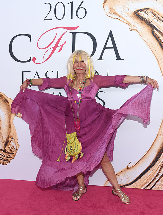 "<div class=""meta image-caption""><div class=""origin-logo origin-image wpvi""><span>wpvi</span></div><span class=""caption-text"">Betsey Johnson arrives at the CFDA Fashion Awards on Monday, June 6, 2016, in New York. (Evan Agostini/Invision/AP)</span></div>"