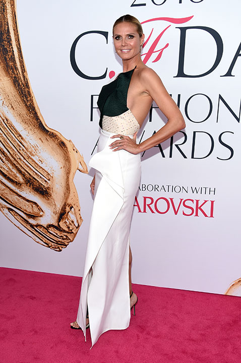 "<div class=""meta image-caption""><div class=""origin-logo origin-image wpvi""><span>wpvi</span></div><span class=""caption-text"">Heidi Klum arrives at the CFDA Fashion Awards on Monday, June 6, 2016, in New York. (Evan Agostini/Invision/AP)</span></div>"