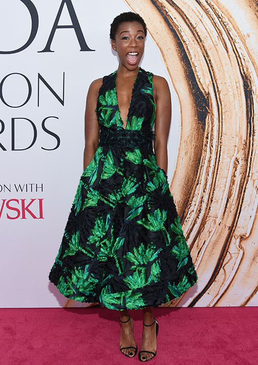 "<div class=""meta image-caption""><div class=""origin-logo origin-image kabc""><span>kabc</span></div><span class=""caption-text"">Samira Wiley arrives at the CFDA Fashion Awards on Monday, June 6, 2016, in New York. (Evan Agostini/Invision/AP)</span></div>"
