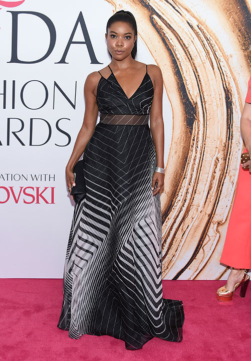 "<div class=""meta image-caption""><div class=""origin-logo origin-image wpvi""><span>wpvi</span></div><span class=""caption-text"">Gabrielle Union arrives at the CFDA Fashion Awards on Monday, June 6, 2016, in New York. (Evan Agostini/Invision/AP)</span></div>"