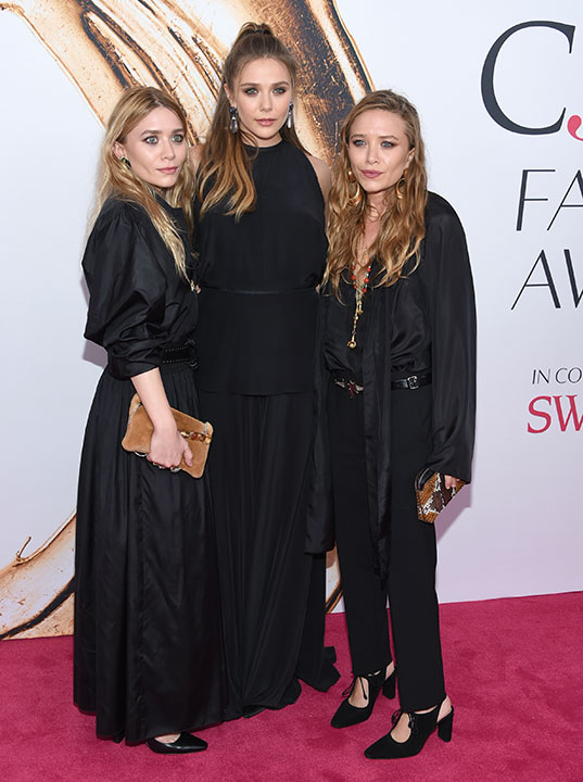 "<div class=""meta image-caption""><div class=""origin-logo origin-image wpvi""><span>wpvi</span></div><span class=""caption-text"">The Olsen sisters, Ashley, Elizabeth and Mary-Kate, arrive at the CFDA Fashion Awards on Monday, June 6, 2016, in New York. (Evan Agostini/Invision/AP)</span></div>"