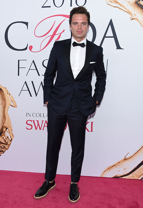 "<div class=""meta image-caption""><div class=""origin-logo origin-image wpvi""><span>wpvi</span></div><span class=""caption-text"">Sebastian Stan arrives at the CFDA Fashion Awards on Monday, June 6, 2016, in New York. (Evan Agostini/Invision/AP)</span></div>"