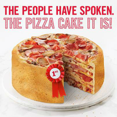 The pizza cake, for special occassions when chocolate's just not enough <span class=meta>Boston Pizza Facebook page</span>