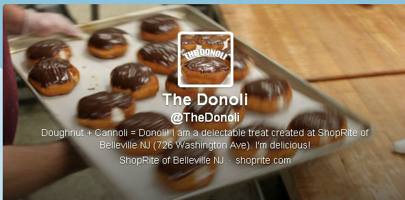 Donolis &#40;doughnuts stuffed with canolli filling&#41;, for after you&#39;ve had one too many cronuts <span class=meta>(The Donoli on Twitter)</span>