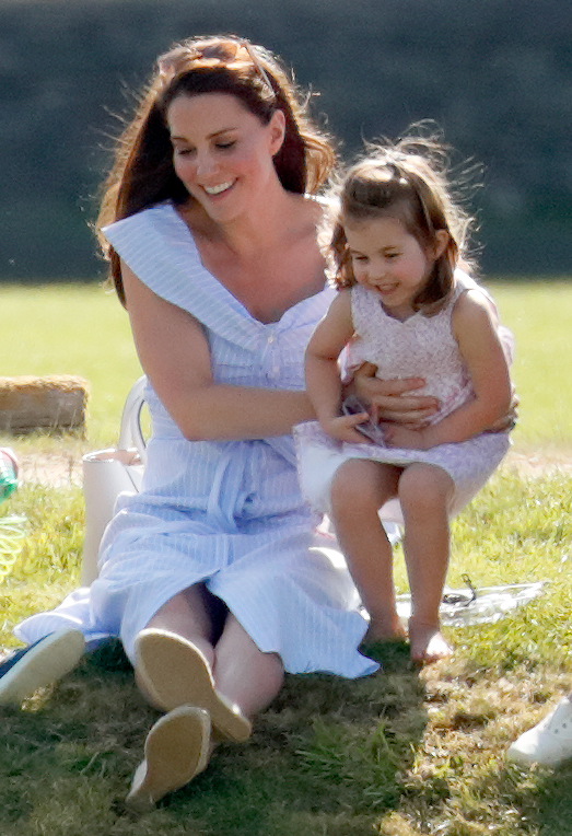 <div class='meta'><div class='origin-logo' data-origin='none'></div><span class='caption-text' data-credit='Max Mumby/Indigo/Getty Images'>Catherine, Duchess of Cambridge and Princess Charlotte of Cambridge attend the Maserati Royal Charity Polo Trophy at the Beaufort Polo Club on June 10, 2018 in Gloucester, England.</span></div>