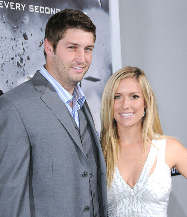 <div class='meta'><div class='origin-logo' data-origin='none'></div><span class='caption-text' data-credit='Getty'>Jay Cutler and Kristin Cavallari arrive at the Los Angeles premiere of 'Source Code' held at ArcLight Cinemas Cinerama Dome on March 28, 2011 in Hollywood, Calif.</span></div>