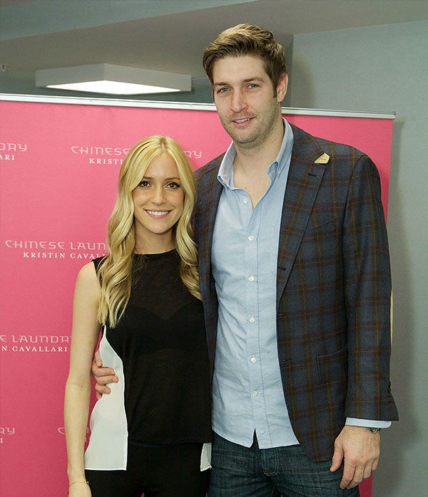 <div class='meta'><div class='origin-logo' data-origin='none'></div><span class='caption-text' data-credit='Getty'>Kristin Cavallari and Jay Cutler attend Kristin Cavallari Celebrates The Launch Of Chinese Laundry By Kristin Cavallari on February 9, 2013 in Lombard, Ill.</span></div>