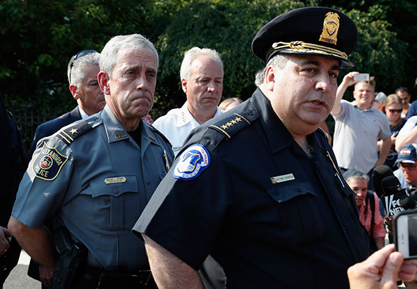 <div class='meta'><div class='origin-logo' data-origin='none'></div><span class='caption-text' data-credit='Alex Brandon/AP Photo'>Capitol Hill Police Chief Matthew Verderosa, right, with Alexandria, Va. Police Chief Michael Brown, left, meet with the media in Alexandria, Va.</span></div>