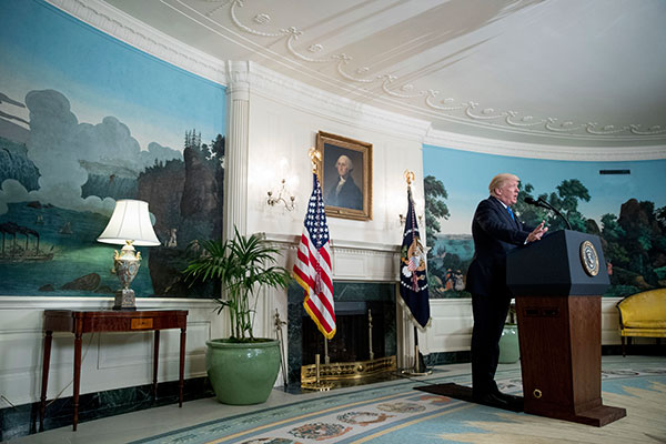 "<div class=""meta image-caption""><div class=""origin-logo origin-image none""><span>none</span></div><span class=""caption-text"">President Donald Trump speaks in the Diplomatic Room of the White House in Washington, Wednesday, June 14, 2017. (Andrew Harnik/AP Photo)</span></div>"