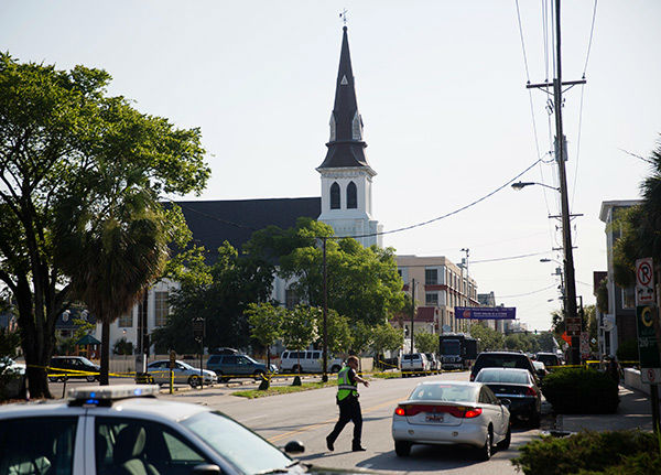 <div class='meta'><div class='origin-logo' data-origin='none'></div><span class='caption-text' data-credit='AP Photo/David Goldman'>Nine people were killed inside the Emanuel AME Church in Charleston, S.C. Wednesday when a gunman opened fire. The church is pictured Thursday morning.</span></div>