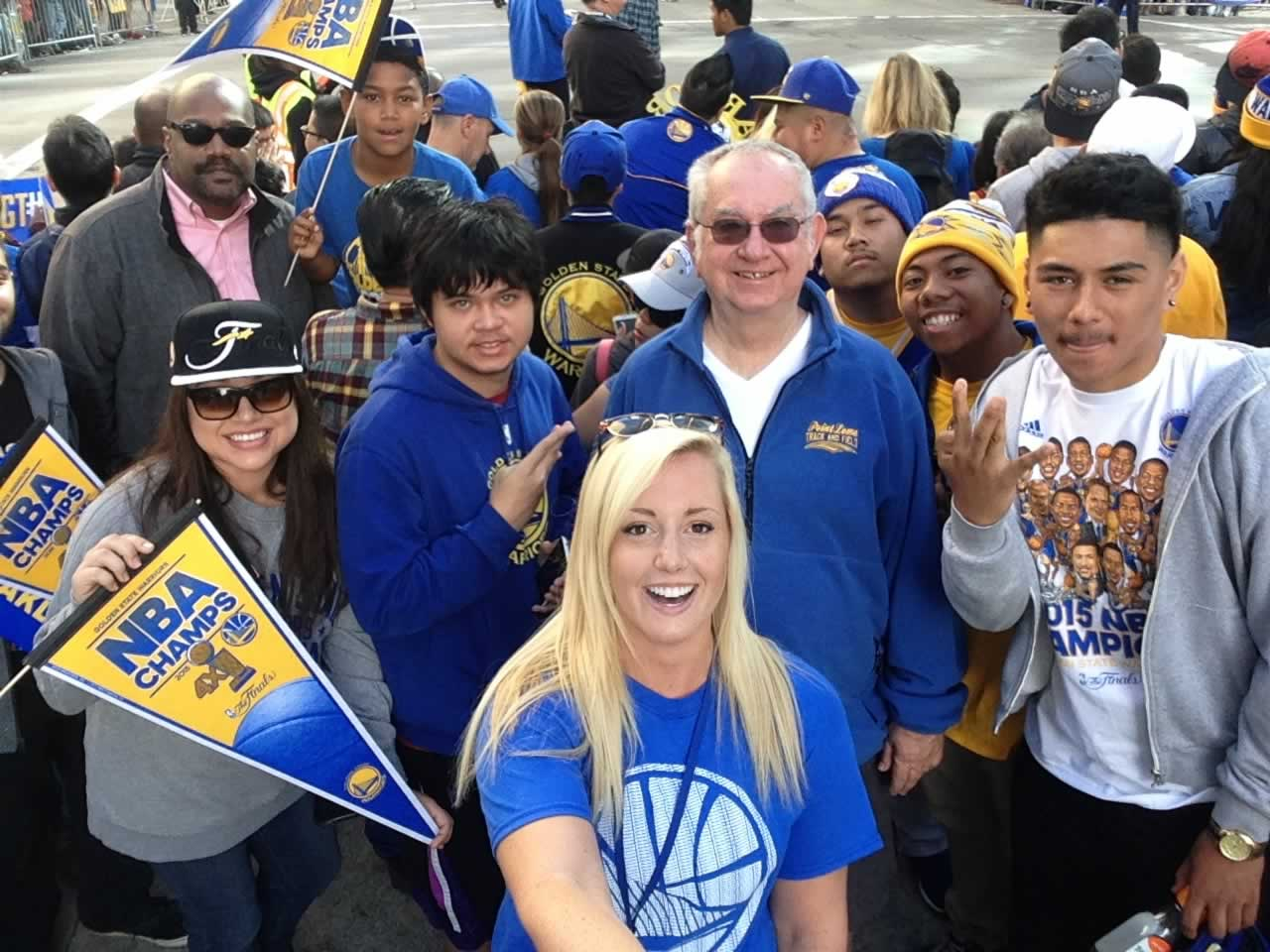 "<div class=""meta image-caption""><div class=""origin-logo origin-image none""><span>none</span></div><span class=""caption-text"">Dub Nation is out in full force for the Golden State Warriors parade in Oakland, Calif. on Friday, June 19, 2015. (KGO-TV)</span></div>"