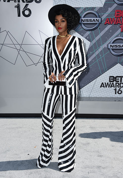 "<div class=""meta image-caption""><div class=""origin-logo origin-image none""><span>none</span></div><span class=""caption-text"">Janelle Monae arrives at the BET Awards on Sunday in Los Angeles. (Jordan Strauss/Invision/AP)</span></div>"