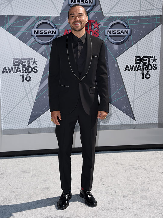 "<div class=""meta image-caption""><div class=""origin-logo origin-image none""><span>none</span></div><span class=""caption-text"">Jesse Williams arrives at the BET Awards on Sunday in Los Angeles. (Jordan Strauss/Invision/AP)</span></div>"