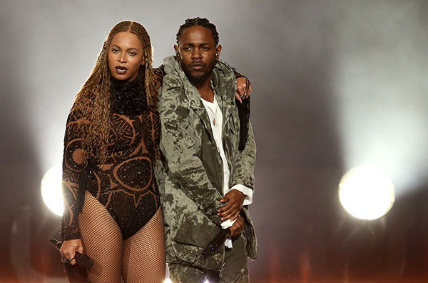 "<div class=""meta image-caption""><div class=""origin-logo origin-image none""><span>none</span></div><span class=""caption-text"">Beyonce and Kendrick Lamar perform at the BET Awards on Sunday in Los Angeles. (Matt Sayles/Invision/AP)</span></div>"