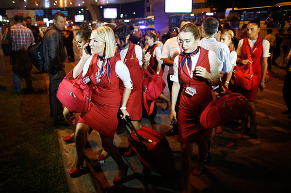 "<div class=""meta image-caption""><div class=""origin-logo origin-image none""><span>none</span></div><span class=""caption-text"">Members of a flight crew leave Istanbul's Ataturk airport, early Wednesday, June 29, 2016. (Emrah Gurel/AP Photo)</span></div>"