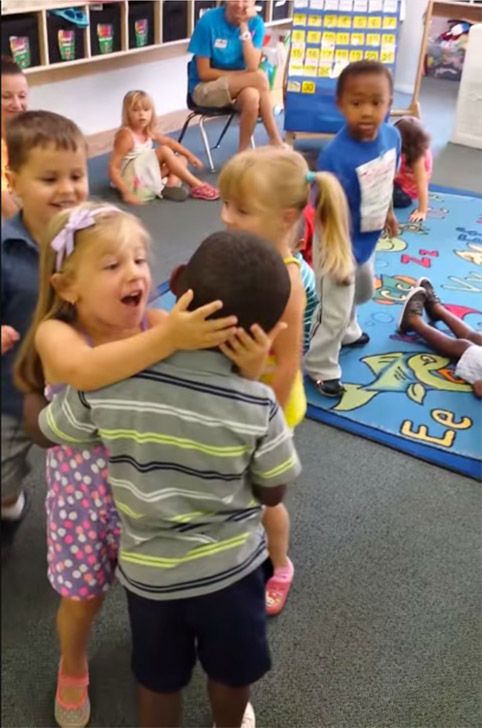 Tyler is welcomed back by his class after being out sich for a week with stomach flu. <span class=meta>(Shawn Harris &#47; YouTube)</span>