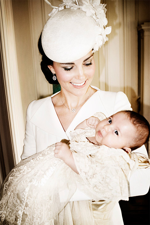 <div class='meta'><div class='origin-logo' data-origin='none'></div><span class='caption-text' data-credit='Getty Images'>Catherine, Duchess of Cambridge, and her daughter Princess Charlotte pose for a photo in the drawing room at Sandringham House after the christening.</span></div>