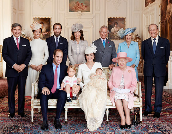 "<div class=""meta image-caption""><div class=""origin-logo origin-image none""><span>none</span></div><span class=""caption-text"">Prince William and his wife Kate, the Duchess of Cambridge, pose for a photo with their families after the christening of their daughter Princess Charlotte on July 5, 2015.</span></div>"