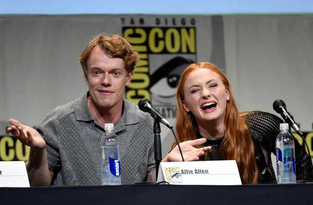 "<div class=""meta image-caption""><div class=""origin-logo origin-image none""><span>none</span></div><span class=""caption-text"">Alfie Allen, left, and Sophie Turner attend the ""Game of Thrones"" panel on day 2 of Comic-Con International on Friday, July 10, 2015, in San Diego, Calif. (Photo by Chris Pizzello/Invision/AP)</span></div>"
