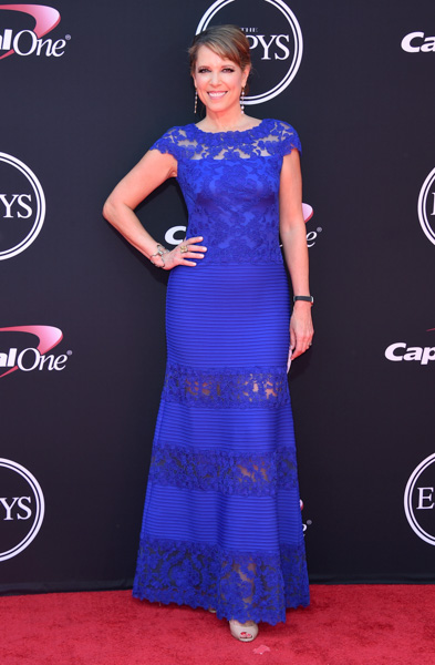 <div class='meta'><div class='origin-logo' data-origin='AP'></div><span class='caption-text' data-credit='Jordan Strauss/Invision/AP'>Hannah Storm arrives at the ESPYS at the Microsoft Theater on Wednesday, July 12, 2017, in Los Angeles.</span></div>