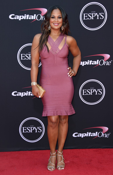 <div class='meta'><div class='origin-logo' data-origin='none'></div><span class='caption-text' data-credit='Jordan Strauss/Invision/AP'>Laila Ali arrives at the ESPYS at the Microsoft Theater on Wednesday, July 12, 2017, in Los Angeles.</span></div>