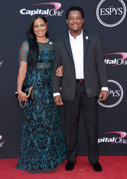 <div class='meta'><div class='origin-logo' data-origin='none'></div><span class='caption-text' data-credit='Jordan Strauss/Invision/AP'>Pedro Martinez, right, and Carolina Cruz Martinez arrive at the ESPYS at the Microsoft Theater on Wednesday, July 12, 2017, in Los Angeles.</span></div>