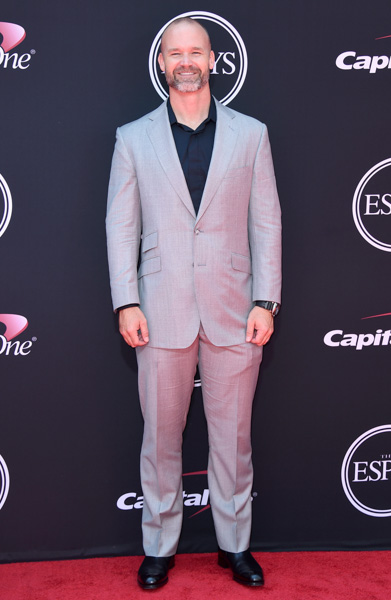 <div class='meta'><div class='origin-logo' data-origin='AP'></div><span class='caption-text' data-credit='Jordan Strauss/Invision/AP'>David Ross arrives at the ESPYS at the Microsoft Theater on Wednesday, July 12, 2017, in Los Angeles.</span></div>