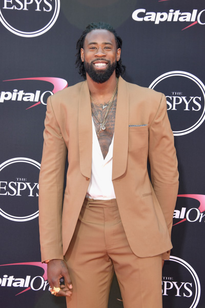 <div class='meta'><div class='origin-logo' data-origin='none'></div><span class='caption-text' data-credit='Matt Winkelmeyer/Getty Images'>NBA player DeAndre Jordan attends The 2017 ESPYS at Microsoft Theater on July 12, 2017 in Los Angeles, California.</span></div>