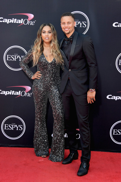 <div class='meta'><div class='origin-logo' data-origin='none'></div><span class='caption-text' data-credit='Matt Winkelmeyer/Getty Images'>NBA player Steph Curry (R) and Ayesha Curry attend The 2017 ESPYS at Microsoft Theater on July 12, 2017 in Los Angeles, California.</span></div>