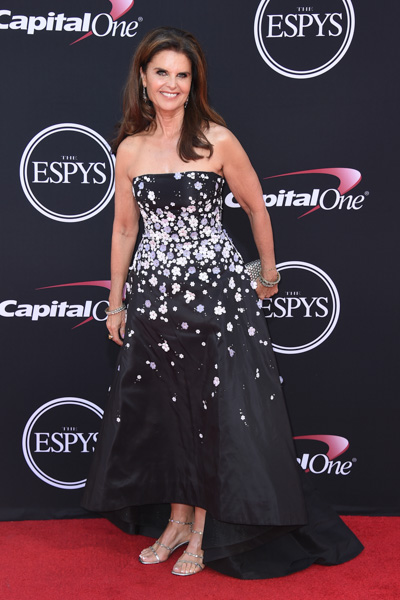 <div class='meta'><div class='origin-logo' data-origin='none'></div><span class='caption-text' data-credit='Jordan Strauss/Invision/AP'>Maria Shriver arrives at the ESPYS at the Microsoft Theater on Wednesday, July 12, 2017, in Los Angeles.</span></div>