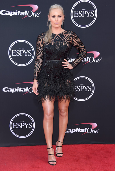 <div class='meta'><div class='origin-logo' data-origin='none'></div><span class='caption-text' data-credit='Jordan Strauss/Invision/AP'>Lindsey Vonn arrives at the ESPYS at the Microsoft Theater on Wednesday, July 12, 2017, in Los Angeles.</span></div>
