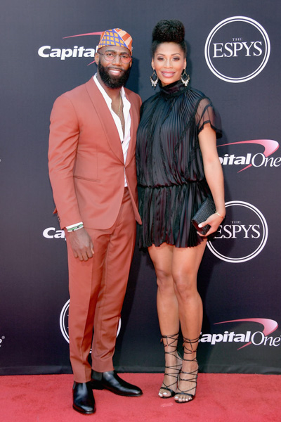 <div class='meta'><div class='origin-logo' data-origin='none'></div><span class='caption-text' data-credit='Matt Winkelmeyer/Getty Images'>LOS ANGELES, CA - JULY 12:  NFL player Malcolm Jenkins (L) and Morrisa Jenkins attend The 2017 ESPYS at Microsoft Theater on July 12, 2017 in Los Angeles, California.</span></div>