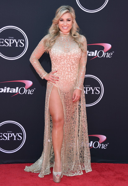 <div class='meta'><div class='origin-logo' data-origin='none'></div><span class='caption-text' data-credit='Jordan Strauss/Invision/AP'>Golfer Chelsea Pezzola arrives at the ESPYS at the Microsoft Theater on Wednesday, July 12, 2017, in Los Angeles.</span></div>