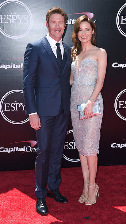 "<div class=""meta image-caption""><div class=""origin-logo origin-image ap""><span>AP</span></div><span class=""caption-text"">Racing driver Scott Dixon, left, and Emma Davies arrive at the ESPY Awards at the Microsoft Theater on Wednesday, July 13, 2016, in Los Angeles. (Jordan Strauss/Invision/AP)</span></div>"