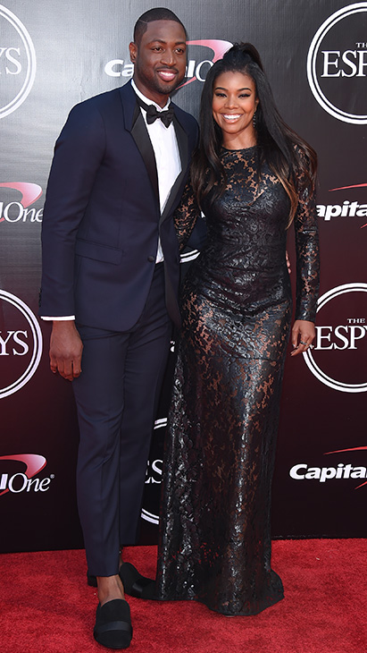 "<div class=""meta image-caption""><div class=""origin-logo origin-image ap""><span>AP</span></div><span class=""caption-text"">NBA basketball player Dwyane Wade, left, and Gabrielle Union arrive at the ESPY Awards at the Microsoft Theater on Wednesday, July 13, 2016, in Los Angeles. (Jordan Strauss/Invision/AP)</span></div>"