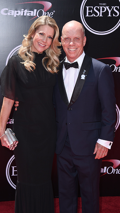"<div class=""meta image-caption""><div class=""origin-logo origin-image ap""><span>AP</span></div><span class=""caption-text"">Sports commentator Scott Hamilton, right, and Tracie Hamilton arrive at the ESPY Awards at the Microsoft Theater on Wednesday, July 13, 2016, in Los Angeles. (Jordan Strauss/Invision/AP)</span></div>"