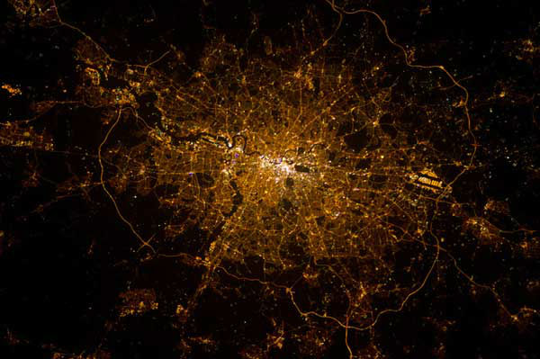 London (North is at the bottom)