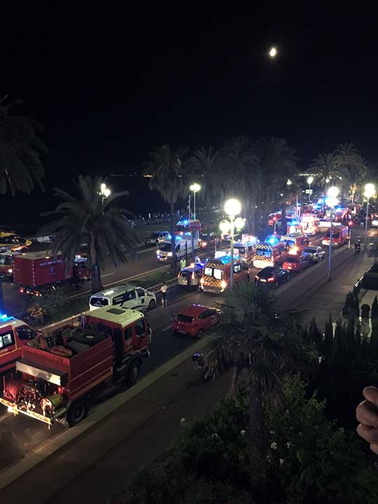 <div class='meta'><div class='origin-logo' data-origin='none'></div><span class='caption-text' data-credit='Sinan Baykent/AP Photo'>Security and medical teams work on the famed Promenade des Anglais, scene of the truck attack, in Nice, southern France, early Friday, July 15, 2016.</span></div>
